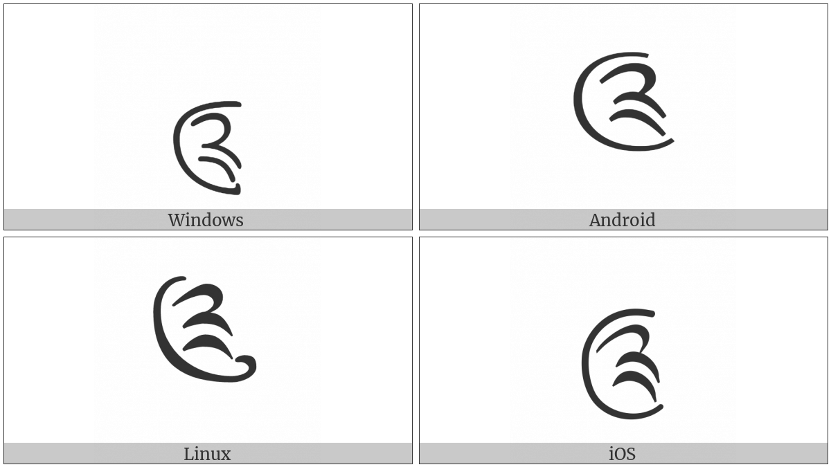 Tibetan Mark Bka- Shog Yig Mgo on various operating systems