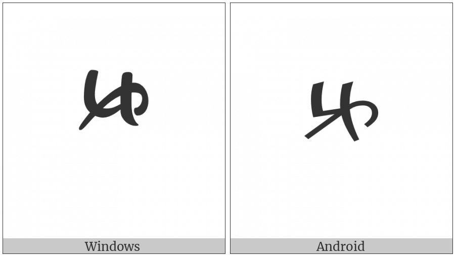 Tibetan Digit Half Five on various operating systems