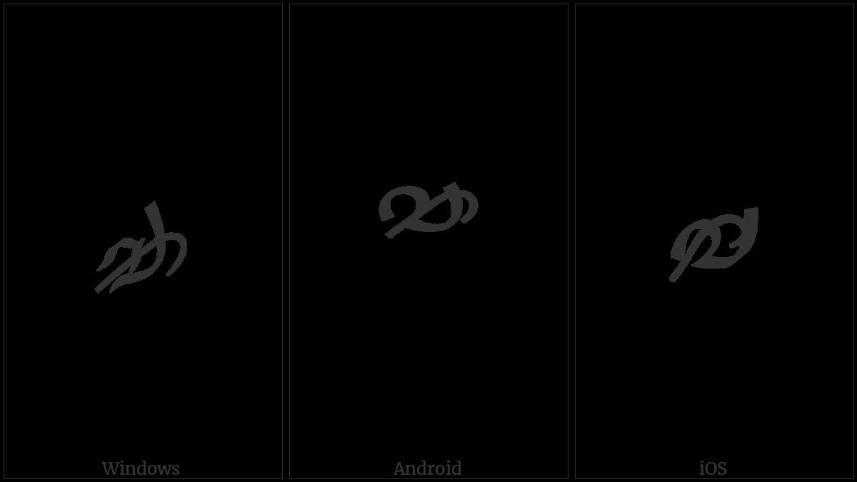 Tibetan Digit Half Seven on various operating systems