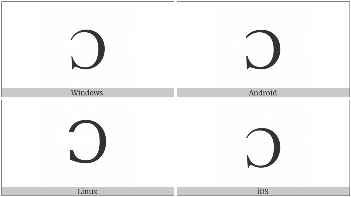 Latin Capital Letter Open O on various operating systems