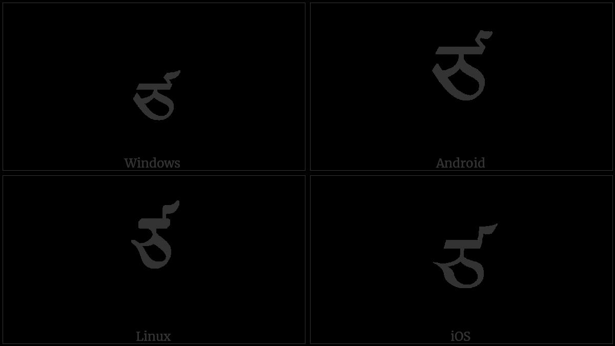 Tibetan Letter Tsa on various operating systems