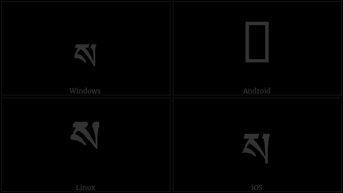 Tibetan Letter Sa on various operating systems
