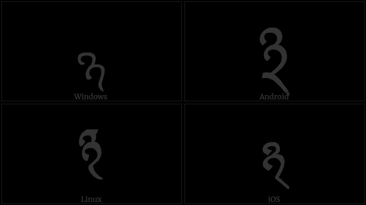 TIBETAN MARK PALUTA utf-8 character