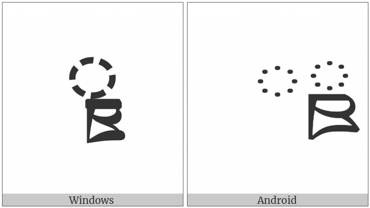 Tibetan Subjoined Letter Ttha on various operating systems