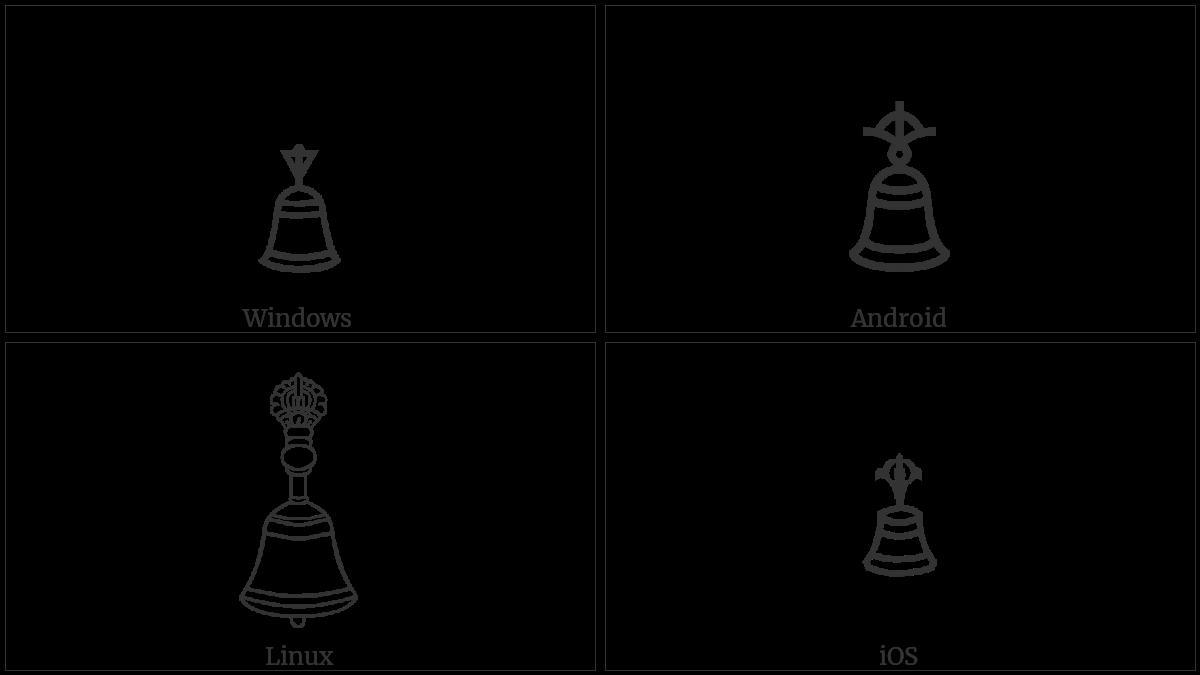 Tibetan Symbol Dril Bu on various operating systems