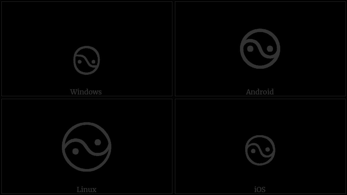 Tibetan Symbol Nor Bu Nyis -Khyil on various operating systems