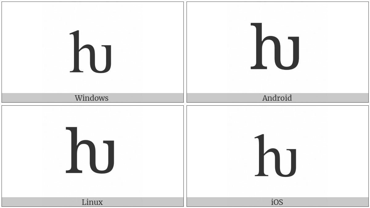 Latin Small Letter Hv on various operating systems