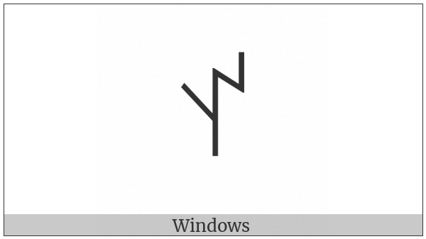 Yi Syllable At on various operating systems