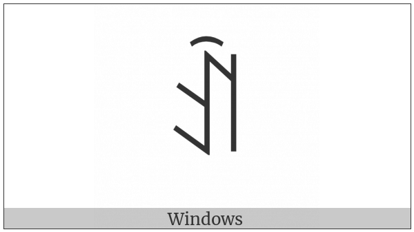 Yi Syllable Ax on various operating systems