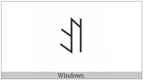 Yi Syllable A on various operating systems