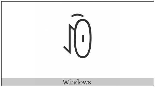 Yi Syllable Ox on various operating systems