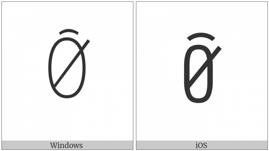 Yi Syllable Biex on various operating systems