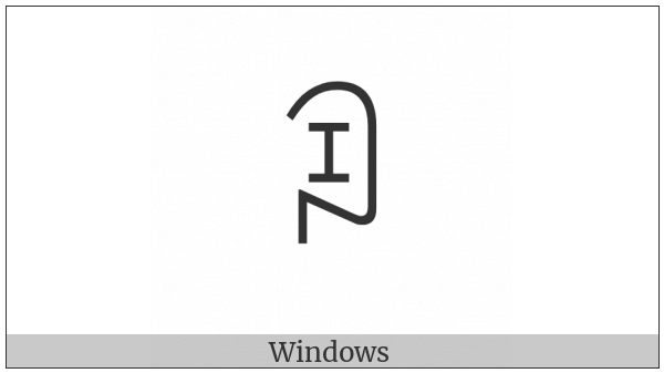 Yi Syllable Buo on various operating systems