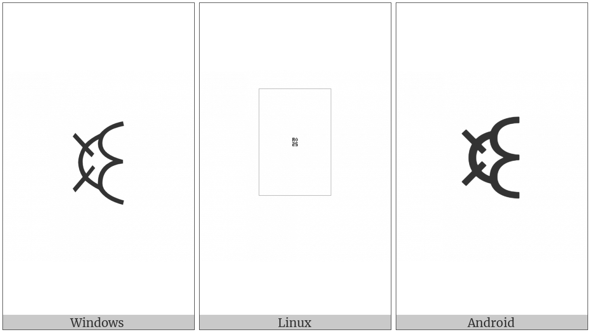 Yi Syllable Bot on various operating systems