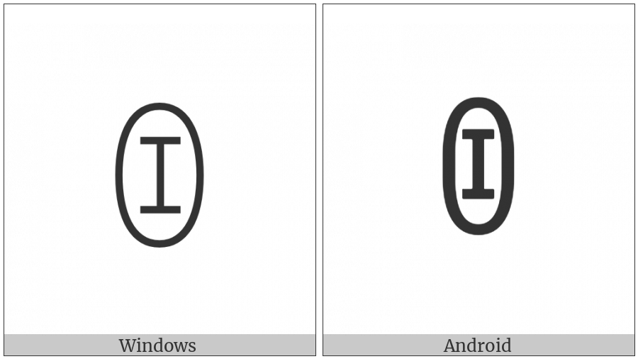 Yi Syllable Bo on various operating systems