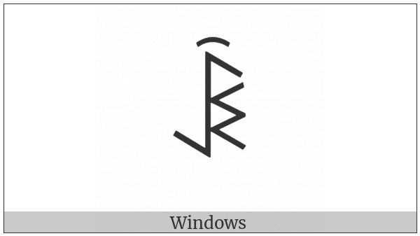 Yi Syllable Byx on various operating systems