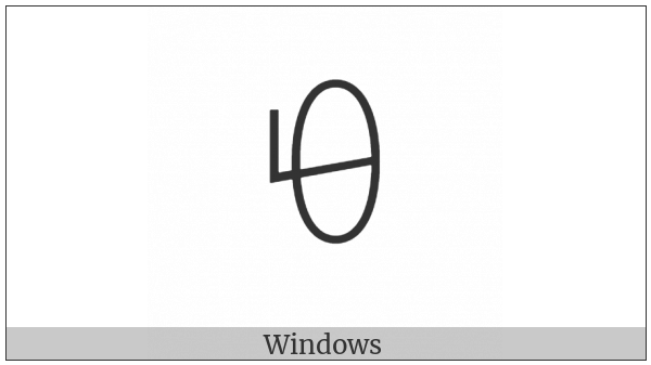 Yi Syllable Pi on various operating systems