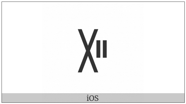 Yi Syllable Pip on various operating systems