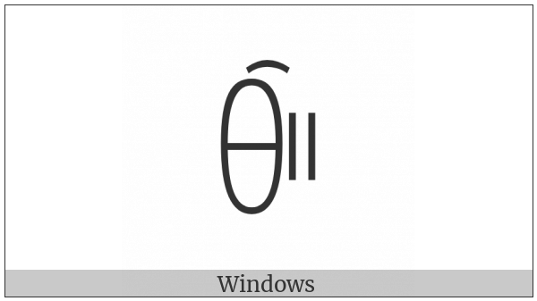 Yi Syllable Piex on various operating systems