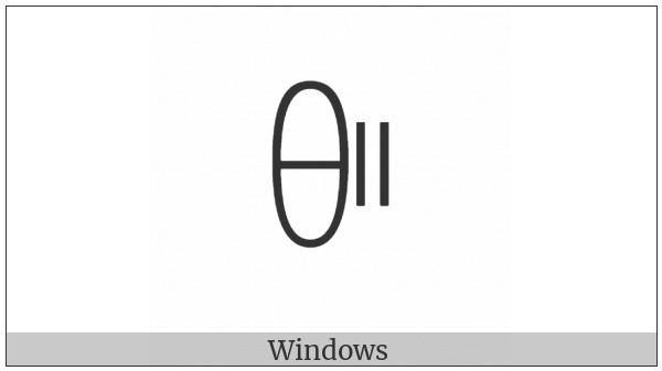 Yi Syllable Pie on various operating systems