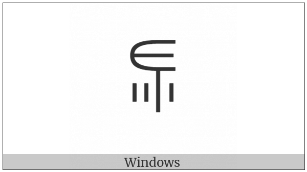 Yi Syllable Puo on various operating systems