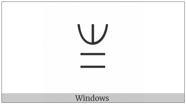 Yi Syllable Po on various operating systems