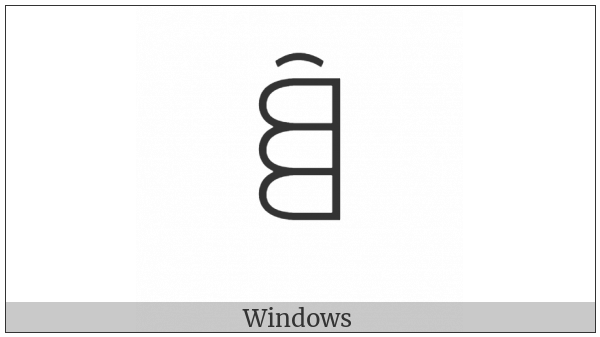 Yi Syllable Pux on various operating systems