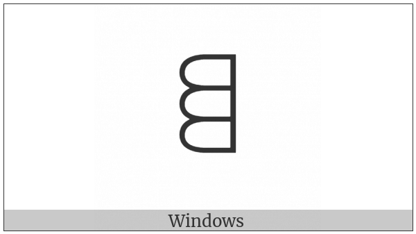 Yi Syllable Pu on various operating systems