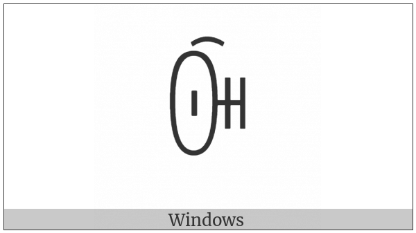 Yi Syllable Purx on various operating systems