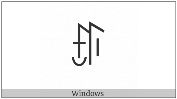 Yi Syllable Pyp on various operating systems