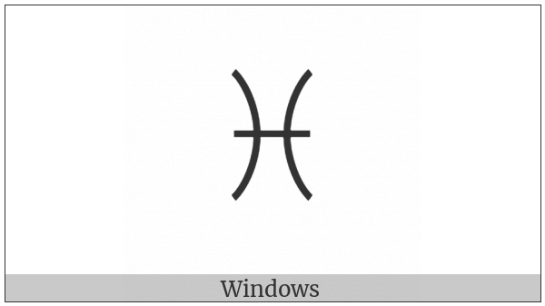 Yi Syllable Bbiep on various operating systems