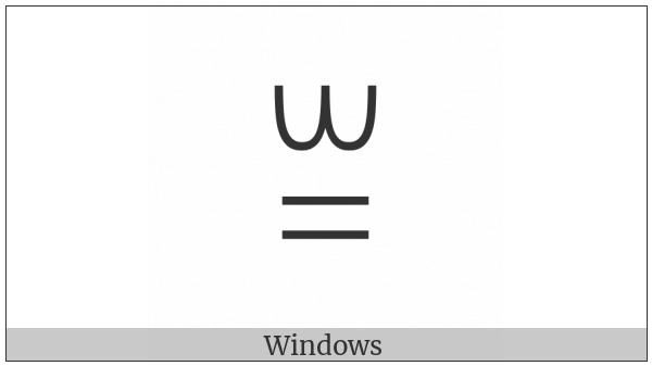 Yi Syllable Bbap on various operating systems