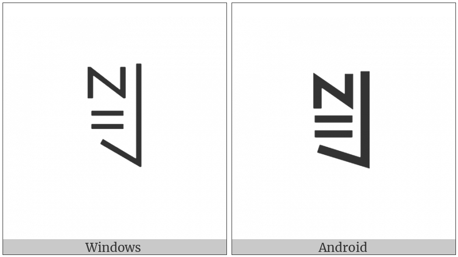 Yi Syllable Bbuo on various operating systems