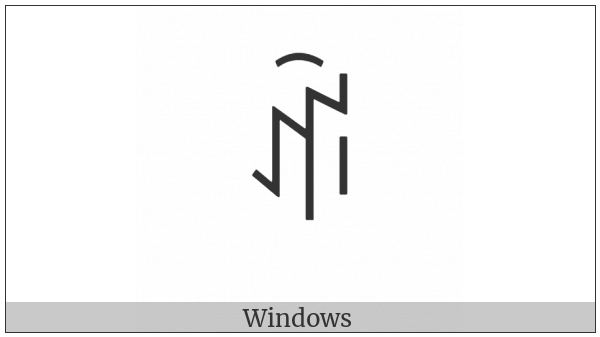 Yi Syllable Bbux on various operating systems