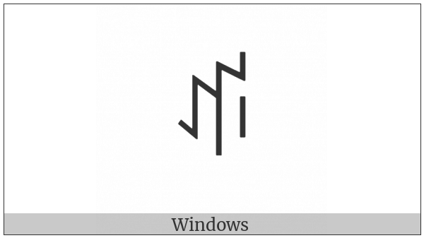 Yi Syllable Bbu on various operating systems