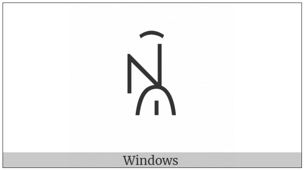 Yi Syllable Bburx on various operating systems