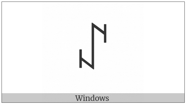 Yi Syllable Bby on various operating systems