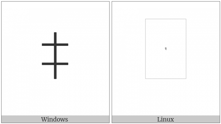 Yi Syllable Nbiep on various operating systems