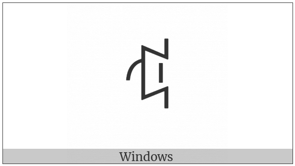 Yi Syllable Nbot on various operating systems