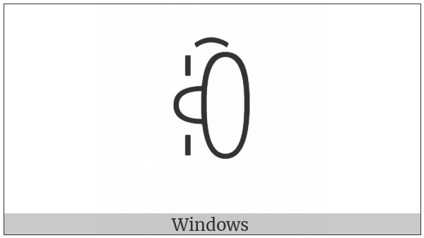 Yi Syllable Nbux on various operating systems