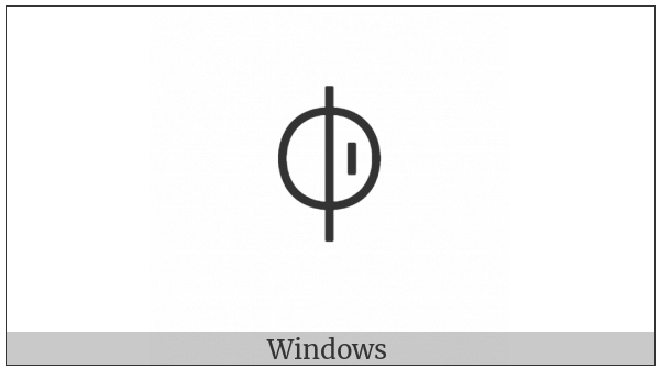 Yi Syllable Nbup on various operating systems