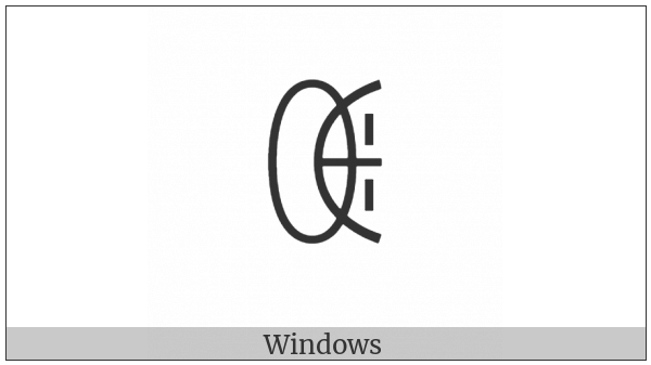 Yi Syllable Nbyt on various operating systems