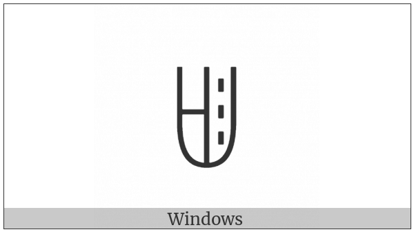 Yi Syllable Nby on various operating systems