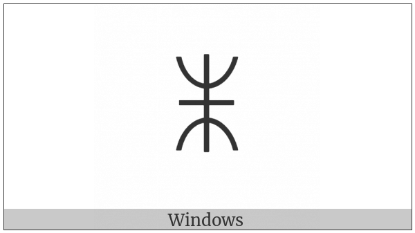 Yi Syllable Hmi on various operating systems