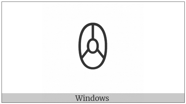 Yi Syllable Hmip on various operating systems