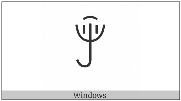 Yi Syllable Hmiex on various operating systems