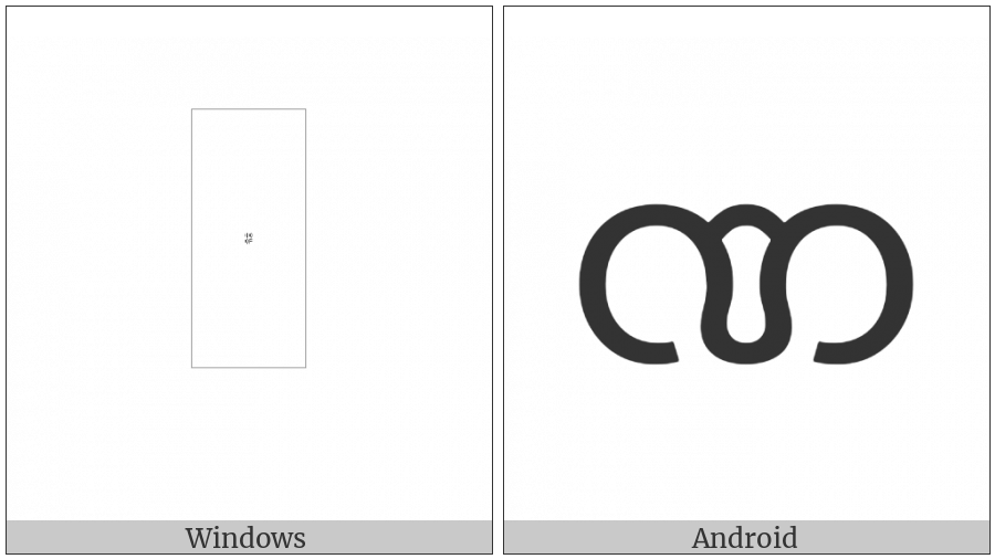 Myanmar Letter Nna on various operating systems