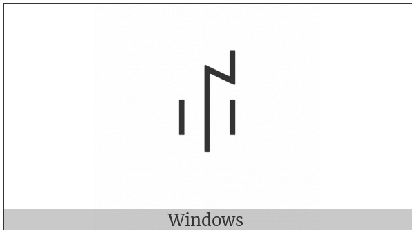 Yi Syllable Hmiep on various operating systems