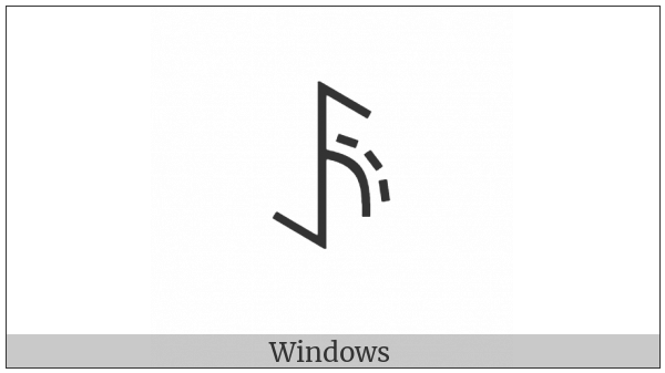 Yi Syllable Hmat on various operating systems