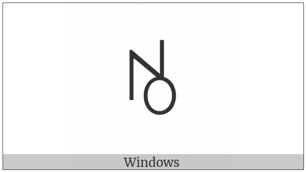 Yi Syllable Hma on various operating systems